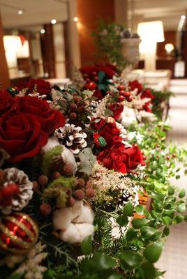 受付装花の実績1