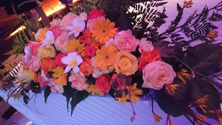 高砂に置く装飾花の実績2