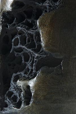 """détail """"érosion"""", bronze"""