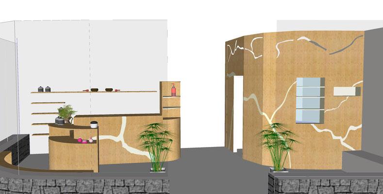 Proposition d'agencement et création de mobilier sur-mesure