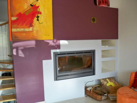 Rénovation de la cheminée du salon principal  /Après