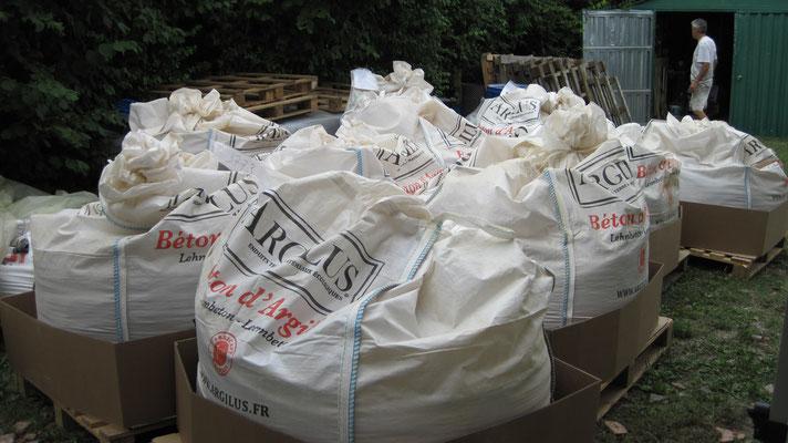 10 big bag de 100kg chacun