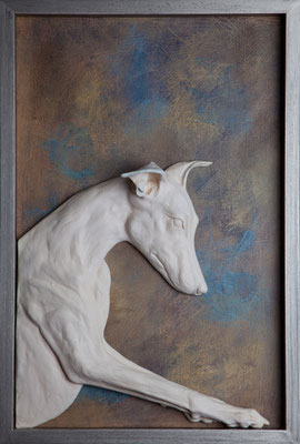 """Curioseando"" - 62 x 42 x 7 cm, 2018 (Vendido)"