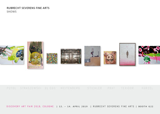 Klappkarte /Folder zur DISCOVERY ART FAIR COLOGNE, RUBRECHT SEVERENS FINE ARTS, Booth: G22