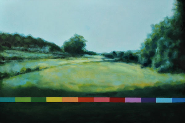 Manfred Maria Rubrecht, STILLES TAL, Öl auf Leinwand, 80×120cm, 2019