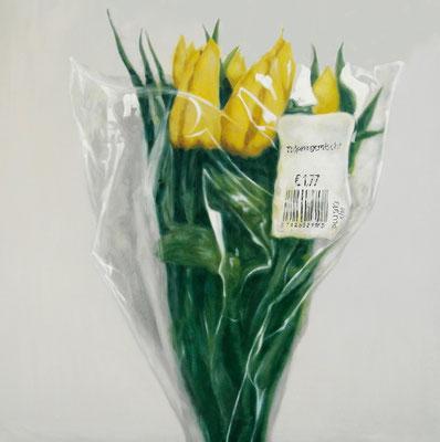 Manfred Maria Rubrecht, PLASTIK Nr.4, 100x100cm, Öl auf Leinwand, 2018