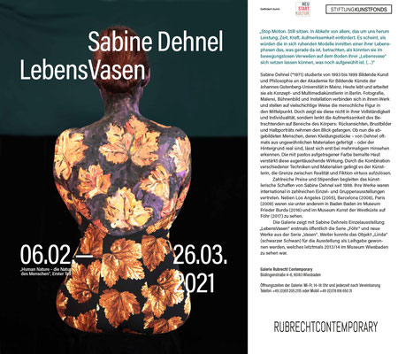 Fahne zur Ausstellung:  Sabine Dehnel – LebensVasen