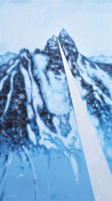 Manfred Maria Rubrecht, HIGHWAY, Öl auf Leinwand, 80x140cm, 2020