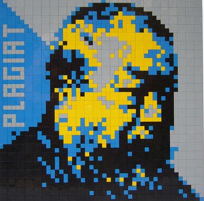 EL EGO, 2019, AiWeiwei gelb, Lego, 3+1, 40x40cm