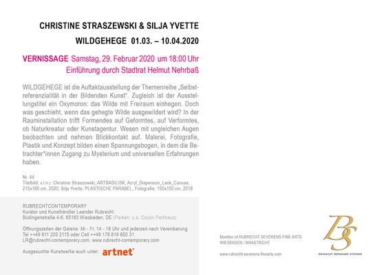STRASZEWSKI + YVETTE WILDGEHEGE, Einladungskarte
