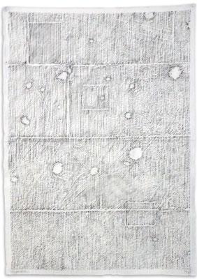 2018. Siegessäule, Graphit auf Musselin, 119x84cm