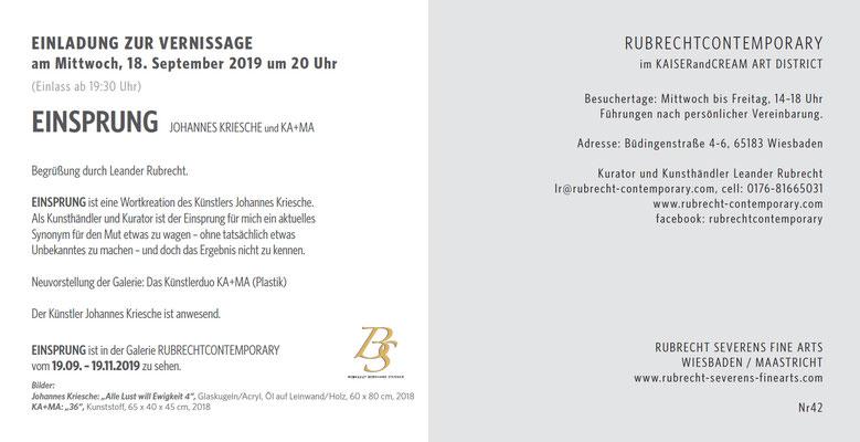 RC EINSPRUNG – EINLADUNG Klappkarte Rückseite, NR. 42, Wiesbaden