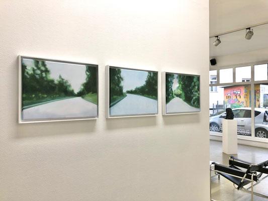 Ausstellungsimpression   Manfred Maria Rubrecht, Serie INSEKTENFREI