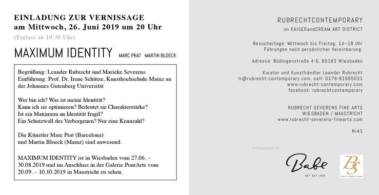 MAXIMUM IDENTITYn, Einladungskarte