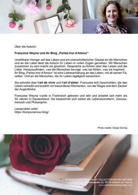 """Françoise Weyna und Ihr Blog """"Parlez-moi d'Amour"""" im COLLECTORSROOM HOFHEIM"""