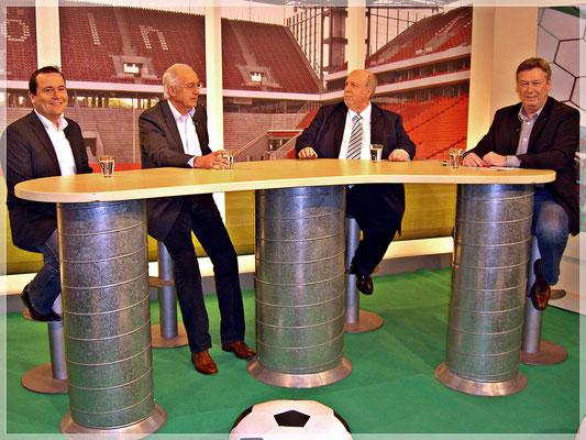 """Rainer Calmund besucht mit Bernd Cullmann den """"Heimspiel Fußball Talk"""""""