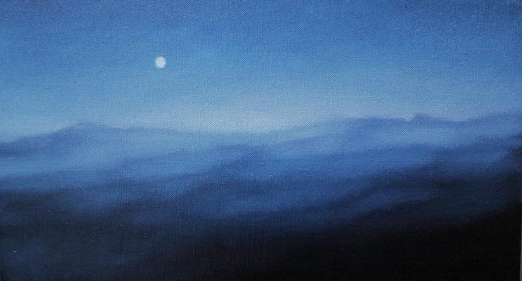 油彩 M4号 Oil on canvas 19cm x 33cm
