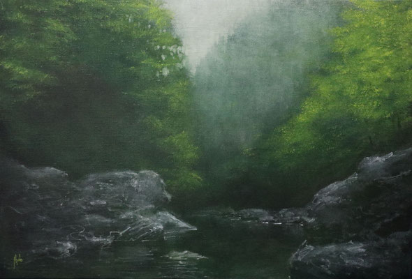 油彩 M12号 Oil on canvas 41cm x 60cm