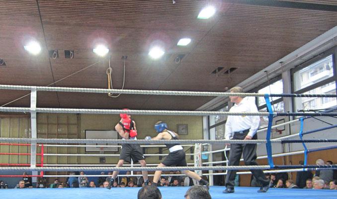 Gracjan bestritt auf dem Gesundbrunnenturnier einen Sparringskampf.