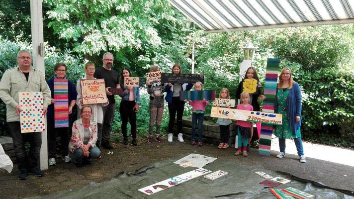 "Workshop im Frei-Raum/ Quatier - Diepholz Projekt""Soziale Stadt"" Juni 2019"