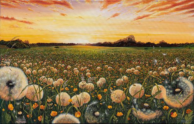 DANDELION, Acryl auf Leinwand, acrylic on canvas, 160/100cm, CHF 5'900.--, Prints erhältlich, prints available