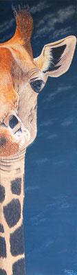 GIRAFFE, Acryl auf Leinwand, acrylic on canvas, 45/160cm, CHF 1'500.--, verkauft, sold