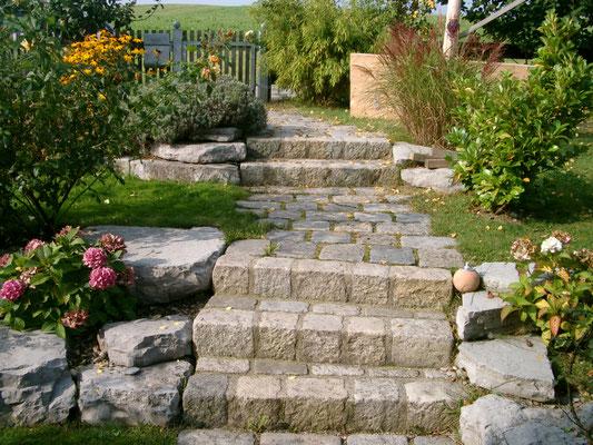 Zugang der ersten großen Gartenanlage
