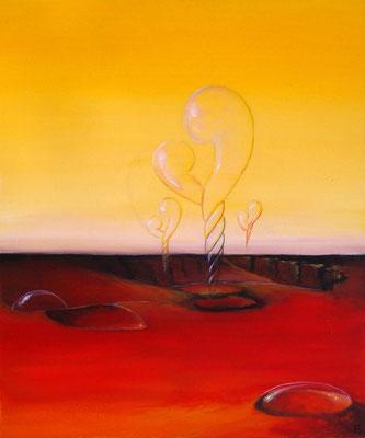 """""""La naissance de l'Amour"""" Ysa Casse, acrylique sur toile, 60 x 80 cm, réservé"""