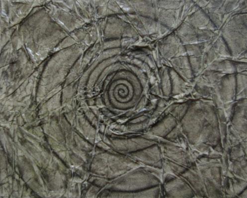 Chaos II, Techniques mixtes sur toile, 24 x 30 cm, vendu