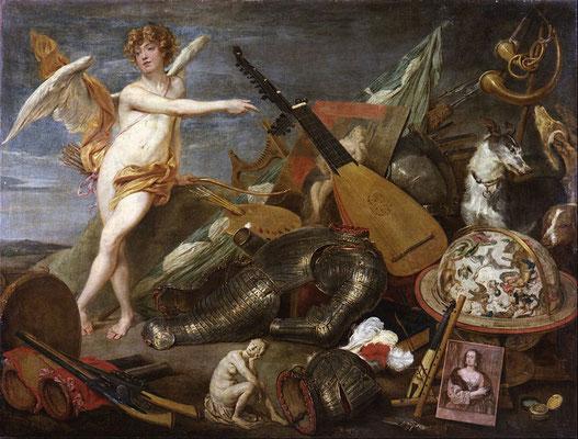 """""""Triomphe de l'amour et de la beauté"""",  1630, Thomas Willeboirts, 200 x 155 cm, Musée Galdiano Madrid, Wikimédia Commons"""