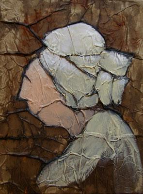 Bretonne, Techniques mixtes sur toile, 20 x 30 cm, vendu