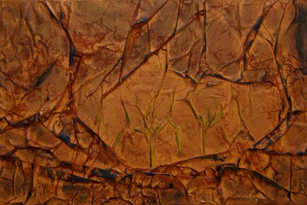 Canicule, Techniques mixtes sur toile, 40 x 60 cm, indisponible
