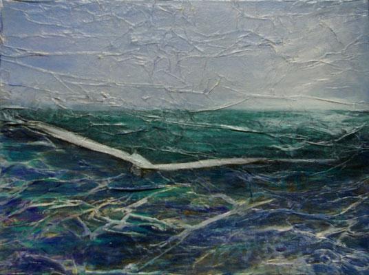 Partir, Techniques mixtes sur toile, 30 x 40 cm sur toile, vendu