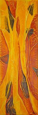 Matières et couleurs VIII, Techniques mixtes sur toile, 20 x 60 cm, disponible