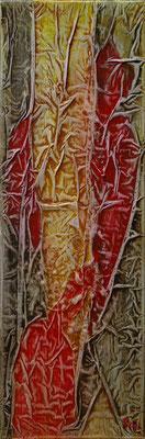 Matières et couleurs II, Techniques mixtes sur toile, 20 x 60 cm, disponible