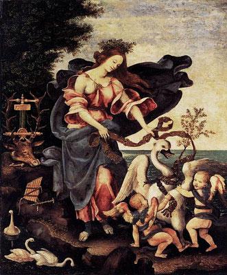 """""""Allegorie de la musique ou Eros"""" vers 1500, Lippi, tempéra sur panneau, 61 x 51 cm, Gemäldegalerie (Berlin), Wikimédia Commons"""