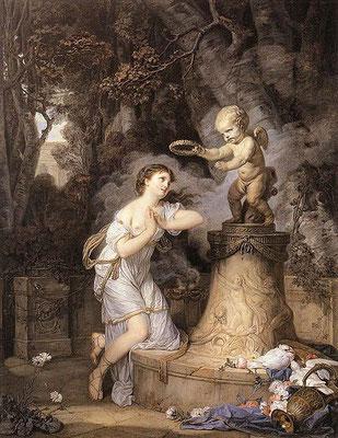 """Votive Offering to Cupid"", 1767, J-Baptiste Greuze, 146 x 113 cm, huile sur toile, Wallace collection, Londres, Wikimédia Commons"