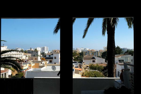 Aussicht vom Wohnzimmer aus über Cala Millor.