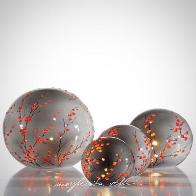 RAMAGE DIPINTO GRIGIO/ROSSO Lampada da tavolo e da terra   - Margherita Vellini  - Lampade in ceramica  - Home Lighting Design