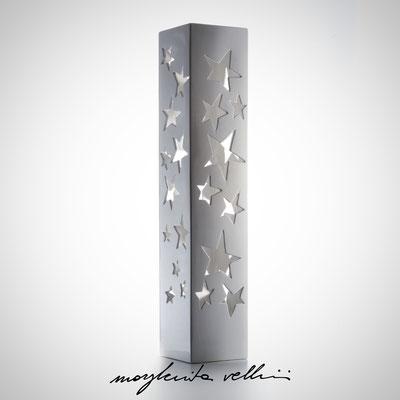 Parallelepipedo STELLATO Maiolica Smalto bianco lucido Lampada da tavolo e da terra   - Margherita Vellini  - Lampade in ceramica  - Home Lighting Design