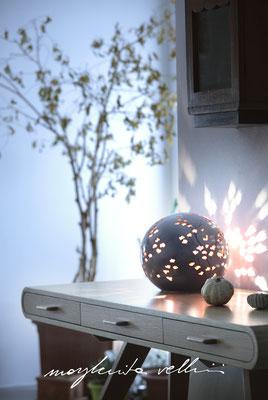 Lampade da tavolo / terra Sfera RAMAGE DIPINTO Margherita Vellini Ceramica Italiana fatta a mano Home Lighting Design