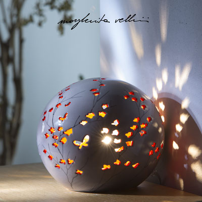 Sphere table lamp RAMAGE DIPINTO Margherita Vellini - Ceramic Lamps -  Home Lighting Design - Made in Italy