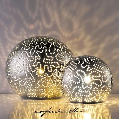 Sfere ISOBARE metallo prezioso Platino 15% Margherita Vellini - Lampade in ceramica - Home Lighting Design