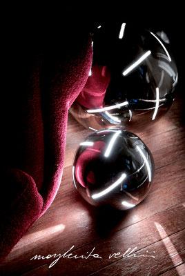 Lampade da tavolo / terra Sfere RADI metallo prezioso Platino 15% Margherita Vellini Ceramica Italiana fatta a mano Home Lighting Design
