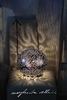 Sfera ISOBARE metallo prezioso Oro rosso opaco 15% Margherita Vellini Ceramica Italiana fatta a mano Home Lighting Design