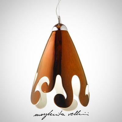 Sospensione ogiva taglio BAROCCO finitura in metallo prezioso Bronzo (oro rosso) 15%  - Margherita Vellini - Lampade in ceramica - Home Lighting Design
