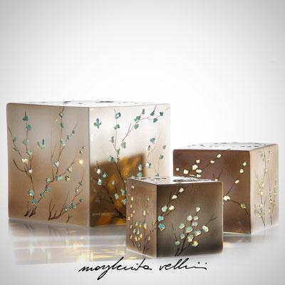 RAMAGE DIPINTO BEIGE/CELESTE Lampada da tavolo e da terra   - Margherita Vellini  - Lampade in ceramica  - Home Lighting Design
