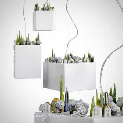 Sospensioni COLLINE Maiolica bianco lucido - Margherita Vellini - Lampade in ceramica - Home Lighting Design