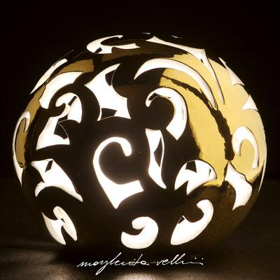 BAROCCO metallo prezioso Oro 15% Lampada da tavolo e da terra   - Margherita Vellini  - Lampade in ceramica  - Home Lighting Design