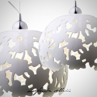 Pendant lamps PIZZO Shiny white glaze Margherita Vellini - Ceramic Lamps -  Home Lighting Design - Made in Italy